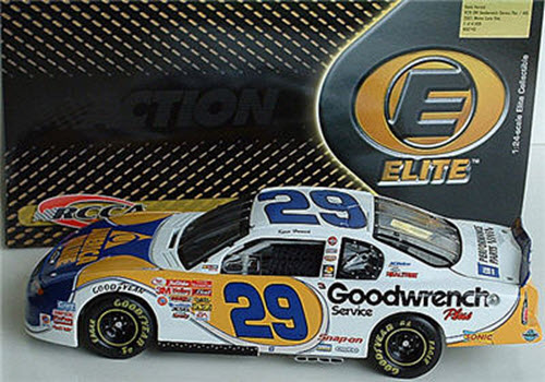 29 Kevin Harvick Diecast 2001 AOL America Online CWC 1:24 Action RCCA Elite 1