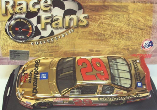 29 Kevin Harvick Diecast 2001 GMGW GM Goodwrench Rookie CWC 1:24 Action QVC RFO Race Fans Only Gold 1