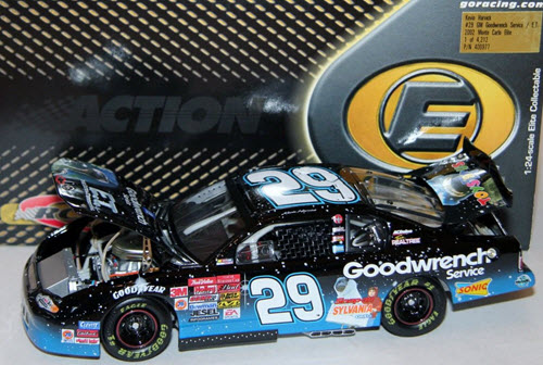 29 Kevin Harvick Diecast 2002 ET E T GMGW GM Goodwrench Blute CWC 1:24 Action RCCA Elite 1b