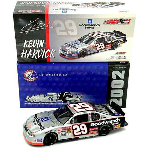 29 Kevin Harvick Diecast 2002 GMGW GM Goodwrench CWC 1:24 Action ARC 1