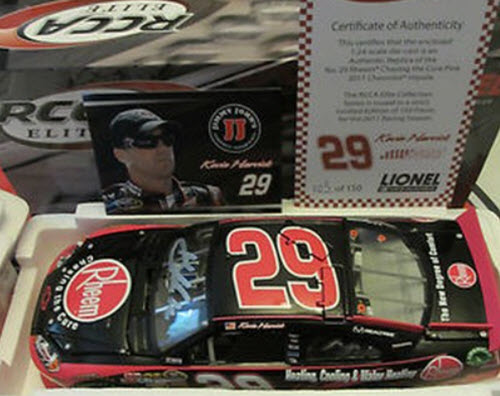29 Kevin Harvick Diecast 2011 Rheem Pink Komen Breast Cancer CWC 1:24 Lionel Action RCCA Elite Autographed Signed 1