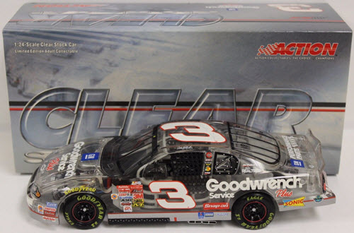 3 Dale Earnhardt Sr Diecast 2001 GMGW GM Goodwrench 2003 CWC 1:24 Action ARC Clear Car 1