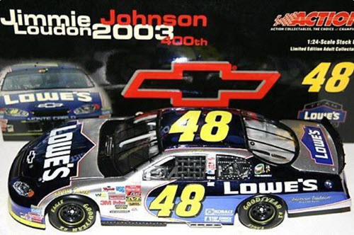 48 Jimmie Johnson Diecast 2004 Lowes Chevy 400 Wins 2003 Louden CWC 1:24 Action ARC Color Chrome 1
