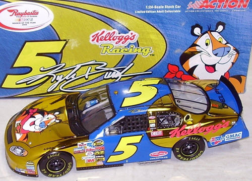 5 Kyle Busch Diecast 2005 Kelloggs ROTY Rookie of the Year CWC 1:24 Action ARC Color Chrome 1
