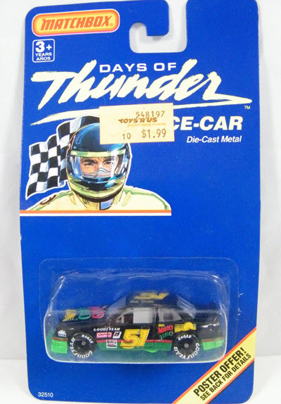 Cole Trickle NASCAR Diecast 51 Mello Yello Days of Thunder 1990 CWC 1:64 Matchbox Perpendicular 1